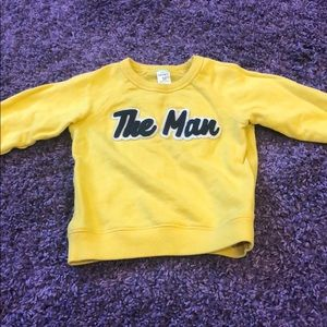 "Toddler Boys Yellow ""The Man"" Sweatshirt Sz 3T"